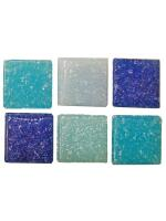 Glassteine Mosaik Joy blau mix 10x10