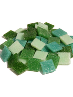 Glass stones mosaic Joy green mix 20x20