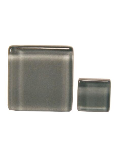 Glassteine Mosaik Soft hellgrau 10x10mm