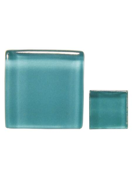 Glassteine Mosaik Soft türkis 10x10mm