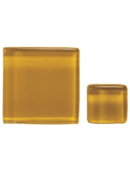 Glassteine Mosaik Soft gelb 10x10mm