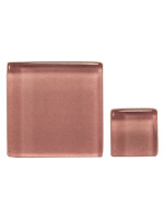 Glassteine Mosaik Soft rosa 10x10mm