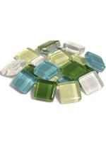 Glassteine Mosaik Soft grün mix 10x10mm