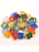 Glassteine Mosaik Soft bunt mix 10x10mm
