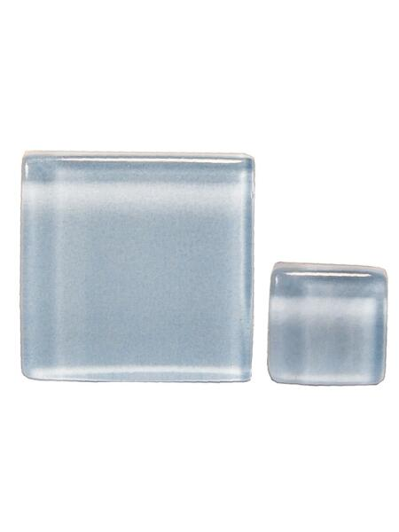 Glassteine Mosaik Soft hellblau 20x20mm