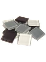 Glassteine Mosaik Soft grau mix 20x20mm