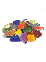 Glass stones mosaic soft colored mix polygonal