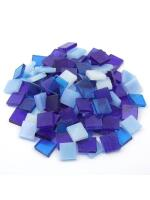 Glas Mosaik Tiffany blau-mix 10x10 200g