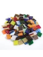 Glas Mosaik Tiffany bunt-mix 10x10 200g