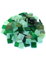 Glass mosaic Tiffany green-mix 15x15 200g