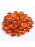 Glass Nuggets Mosaic Nugget orange 10-12mm