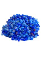 Glassteine Mosaik Millefiori blau mix D=4-5mm