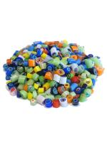 Glassteine Mosaik Millefiori bunt mix D=4-5mm