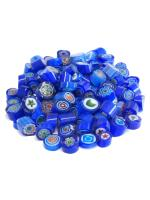 Glassteine Mosaik Millefiori blau mix D=7-8mm