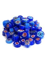 Glassteine Mosaik Millefiori blau mix D=9-10mm