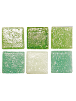 Glass stones mosaic Joy green mix 10x10