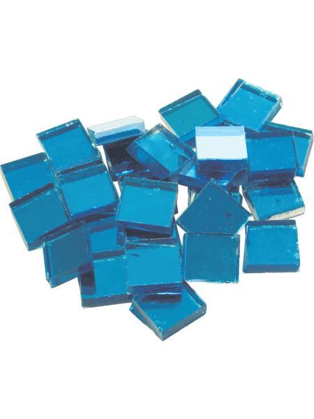 Spiegelmosaik Glassteine Blau 10x10mm 125g