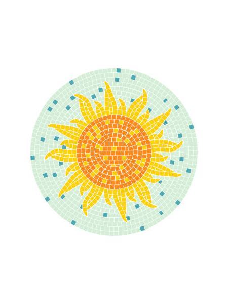 Mosaik Vorlagen Blumen 30 30x30cm 5 40 11