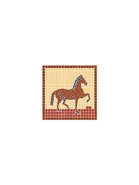 Mosaikvorlagen Vorlage Pferd 20 20x20cm