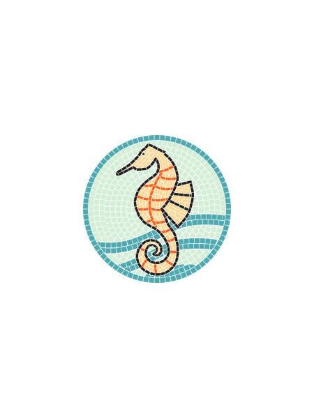 Mosaik-Vorlagen Seepferd-30 d=30cm günstig kaufen   Mosaik-Shop, 5,40 €