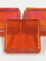 Eis Glas transp. 15x15mm Mosaiksteine, orange